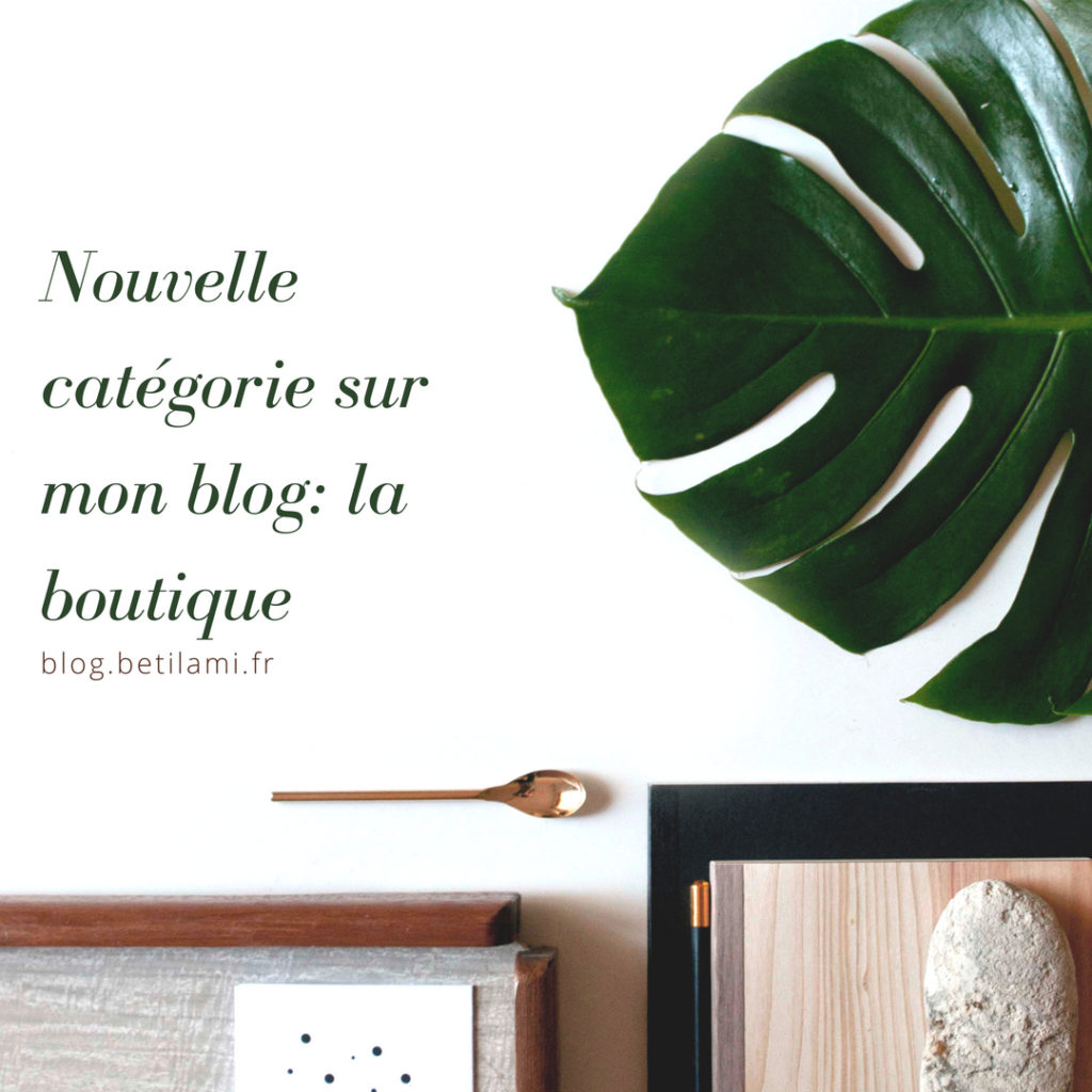 Nouvelle catégorie du blog