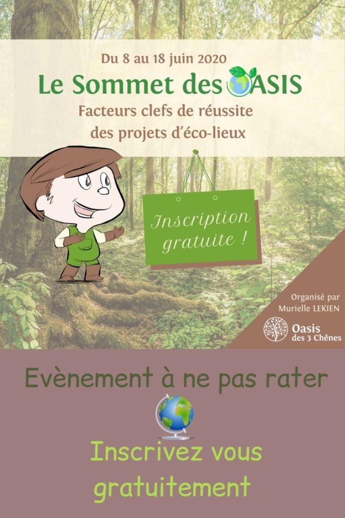 Le sommet des oasis - inscrivez vous gratuitement